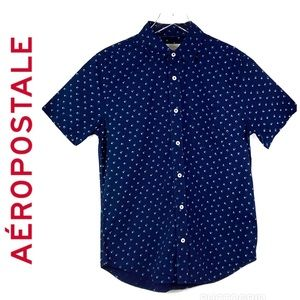 ⭐️Aeropostale Navy S/S Button Down Shirt (Small)